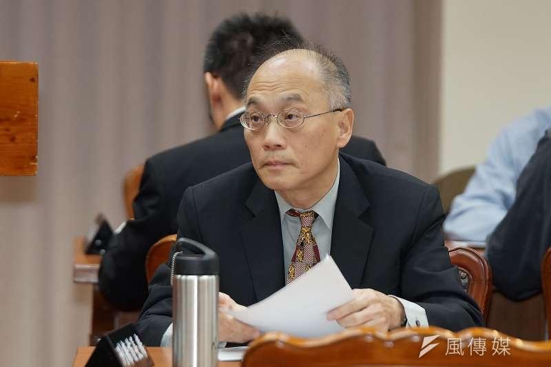 故宮院長吳密察31日至教育文化委員會備詢,表示故宮不可能去中國化。(盧逸峰攝)