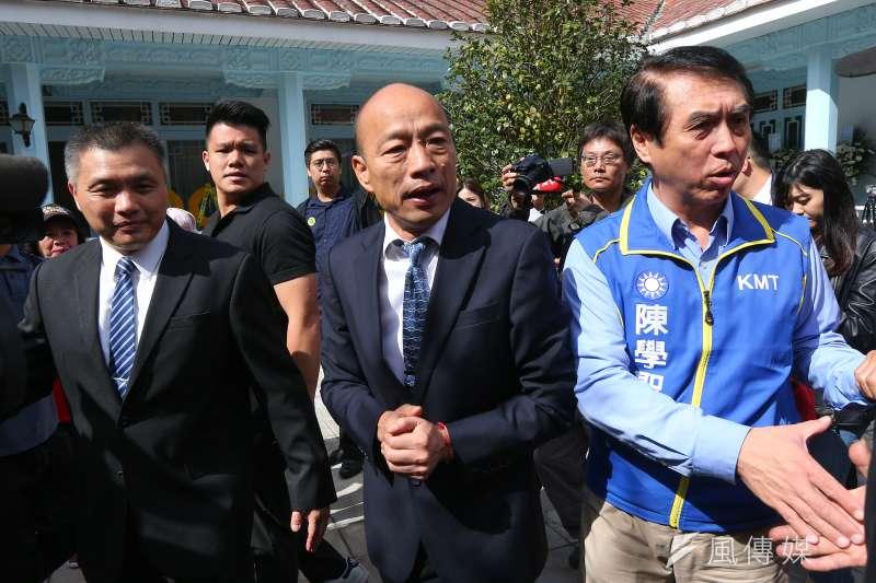 有周刊爆國民黨總統參選人韓國瑜買南港豪宅,韓國瑜陣營回應指出,庶民也可以買房產。(資料照片,顏麟宇攝)