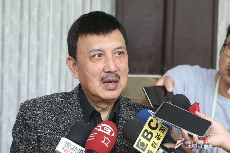 20191101-民進黨立委余天1日於立院接受聯訪。(顏麟宇攝)