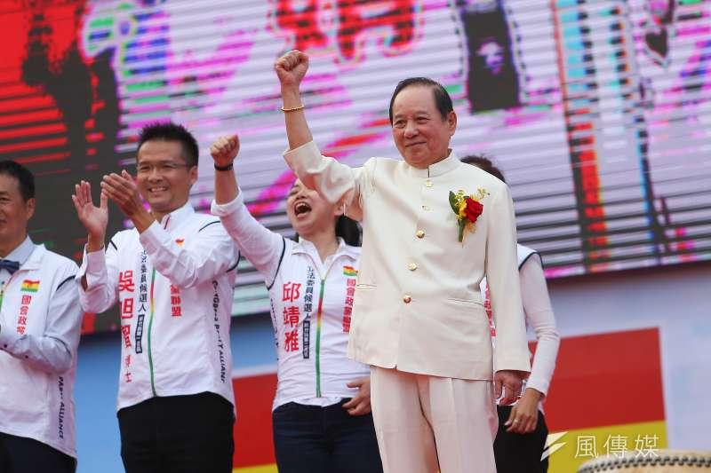 20191102-國會政黨聯盟主席悟覺妙天2日出席建黨週年大會。(顏麟宇攝)