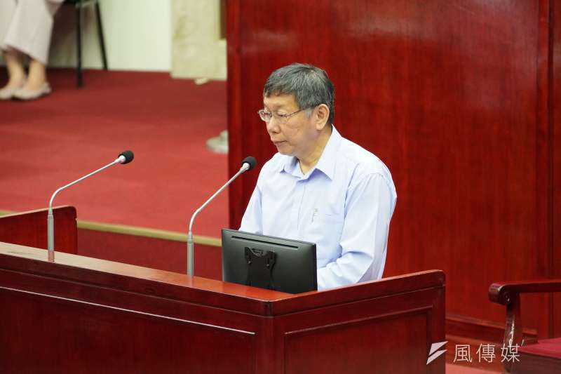 外傳台灣民眾黨有意挖角國民黨不分區立委,民眾黨主席、台北市長柯文哲8日對此表示,自己是一定沒有。(資料照,盧逸峰攝)