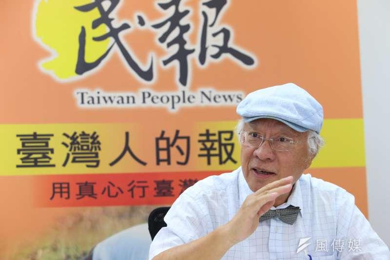 《民報》創辦人陳永興說,從6年前《民報》創辦到如今,實在已經累了,但他仍舊想堅持下去。(顏麟宇攝)