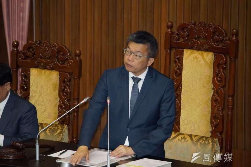 20191105-立法院副院長蔡其昌5日主持院會。(盧逸峰攝)