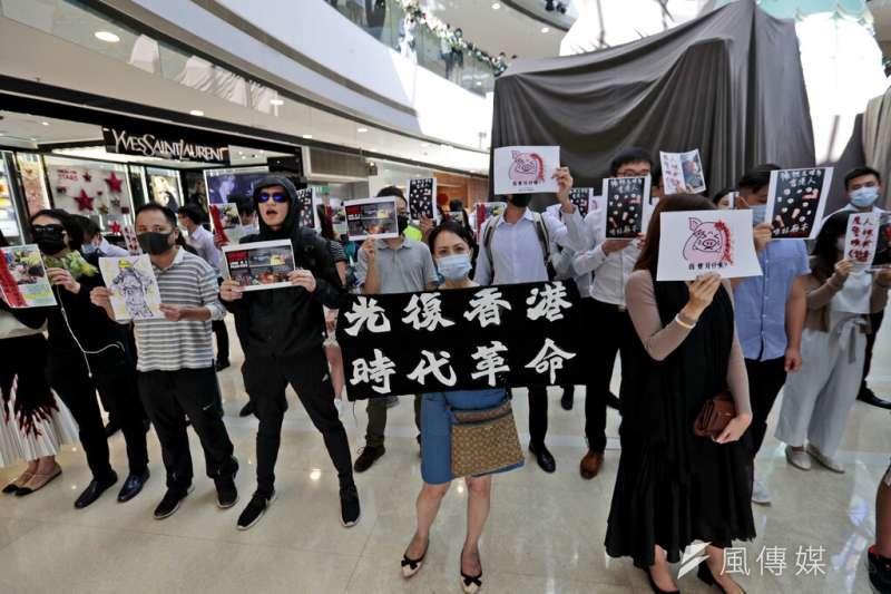 香港的反送中抗議。(美聯社)