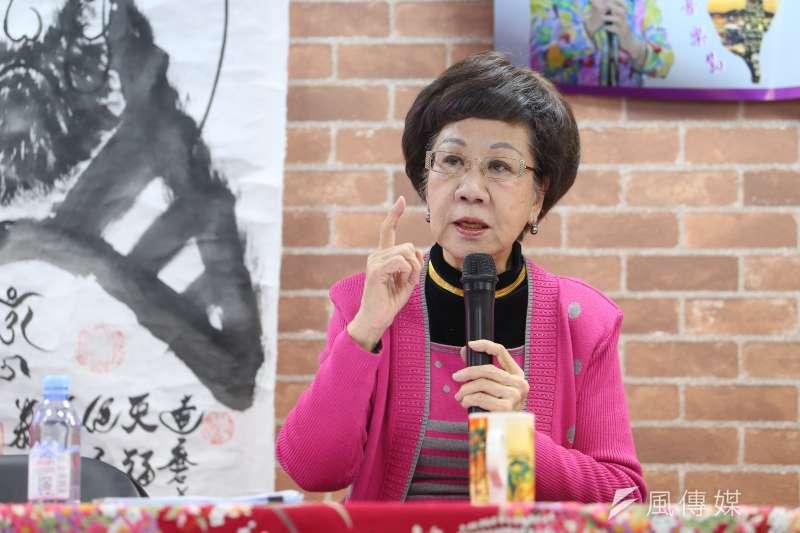 前副總統呂秀蓮(見圖)批評,民進黨人紛紛和楊蕙如切割,根本是蔡政府推諉、卸責的一貫手法。(資料照,顏麟宇攝)