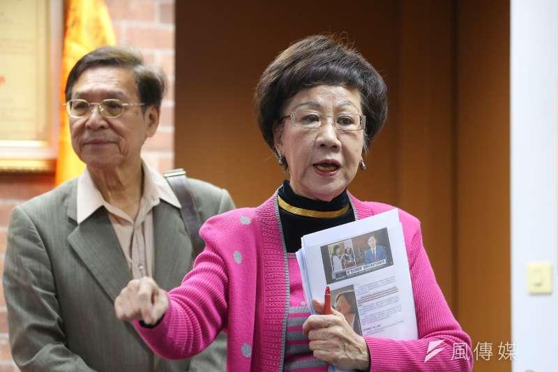 20191105-前副總統呂秀蓮5日召開「三一九 2.0版」記者會,說明於連署過程中所遭受的困難。(顏麟宇攝)