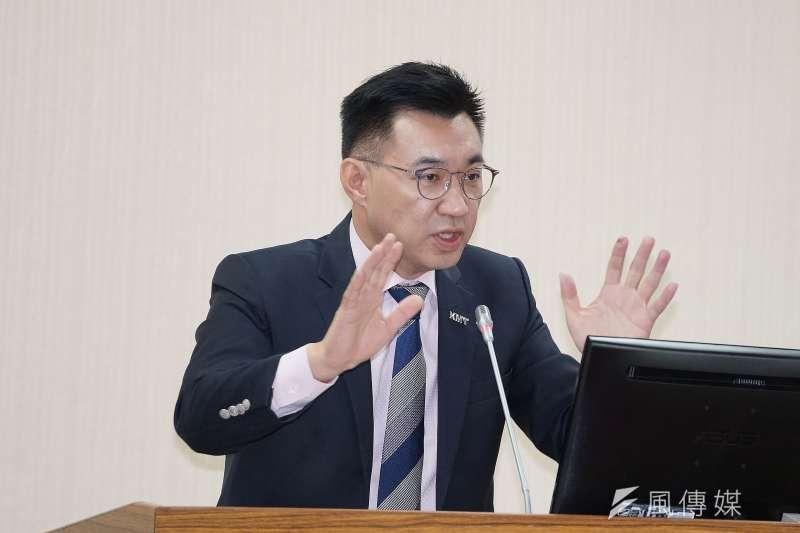 20191106-立委江啟臣6日於外交國防委員會質詢。(盧逸峰攝)