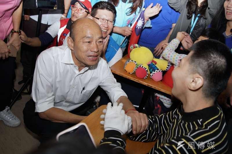 支持著抱著「庶民總統」的稱號不放,因為國民黨總統參選人韓國瑜和他們聲氣相通。(盧逸峰攝)