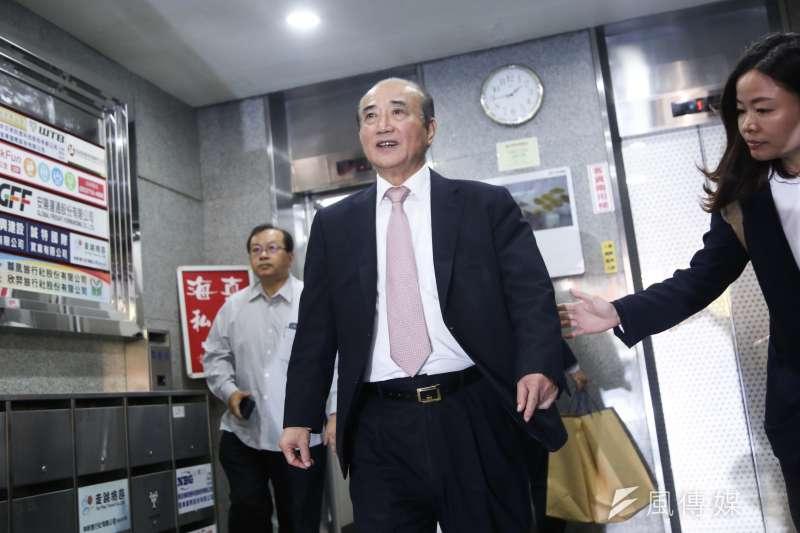 前立法院長王金平(見圖)7日出席國民黨主席吳敦義與黨籍立委餐敘。(簡必丞攝)