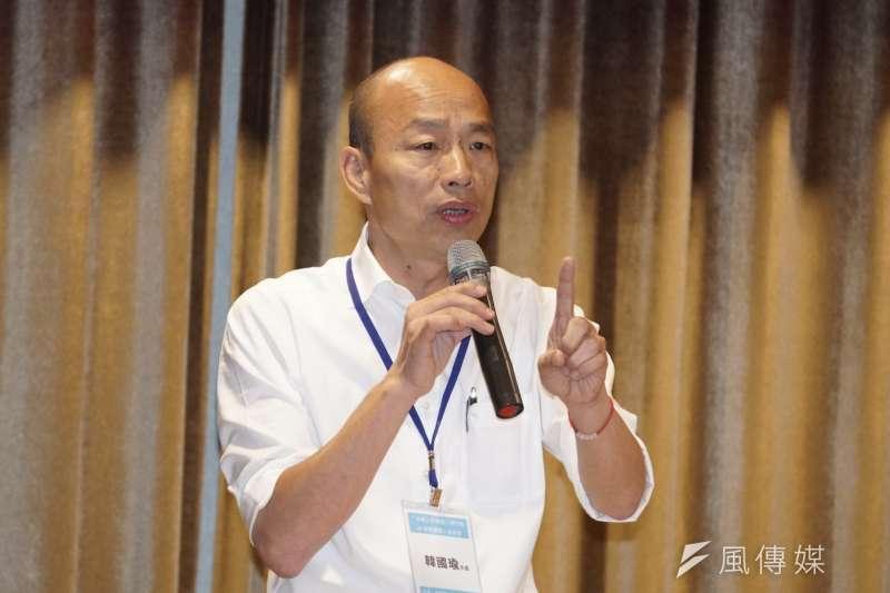 20191107-國民黨總統參選人韓國瑜7日前往竹北與青年座談。(盧逸峰攝)