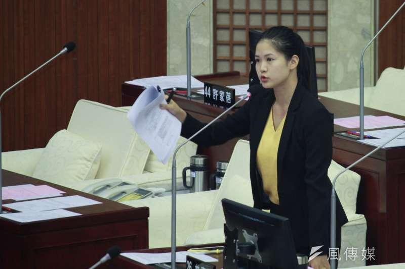 時代力量不分區立委爭議導致台北市議員林亮君在溝通無效後退黨。(方炳超攝)