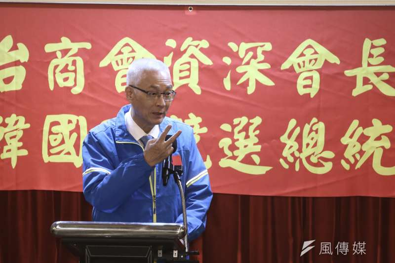 國民黨主席吳敦義把自己列入不分區安全名單,黨內反彈超過他想像。(陳品佑攝)