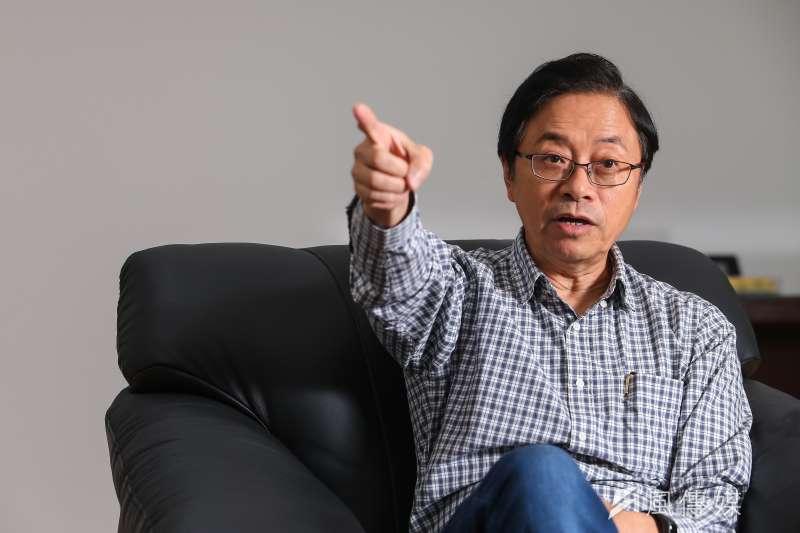 前行政院長張善政受訪時,表示對國民黨不分區名單不以為然。(資料照片,顏麟宇攝)