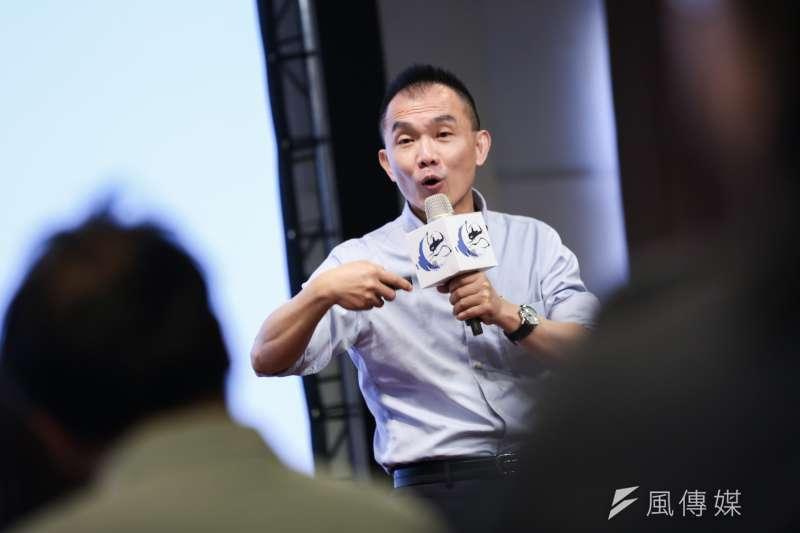 世新大學教授楊惟任(見圖)出席9日思沙龍講座,點出目前環境教育的問題所在。(簡必丞攝)
