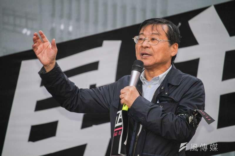 20191109-居住正義改革聯盟9日舉行東區集結活動,圖為國民黨立委曾銘宗。(蔡親傑攝)