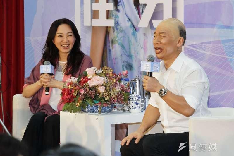 20191110-韓國瑜夫人李佳芬(左)、藝人郭子乾(右)10日出席佳芬講堂活動。(盧逸峰攝)