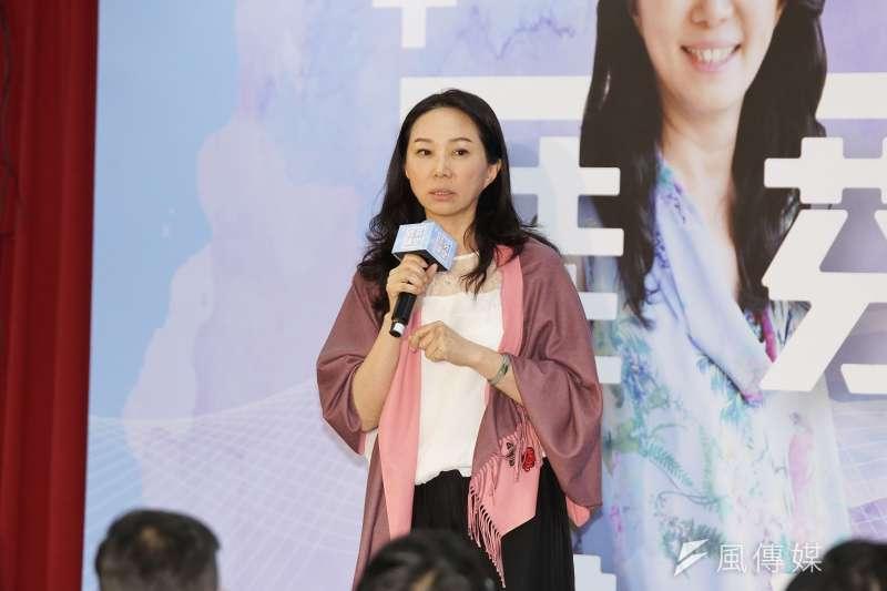 20191110-韓國瑜夫人李佳芬10日出席佳芬講堂活動。(盧逸峰攝)