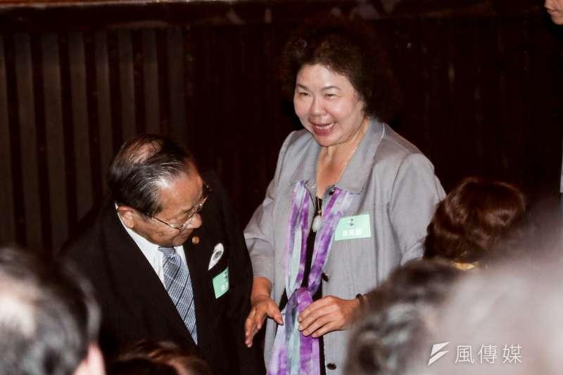 20191110-總統府秘書長陳菊10日出席「守民主、護台灣」台灣大聯盟成立大會。(簡必丞攝)