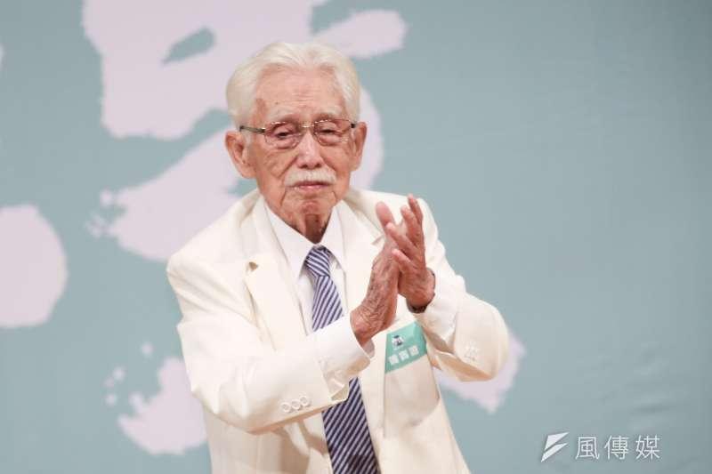 20191110-前總統府資政辜寬敏10日出席「守民主、護台灣」台灣大聯盟成立大會。(簡必丞攝)