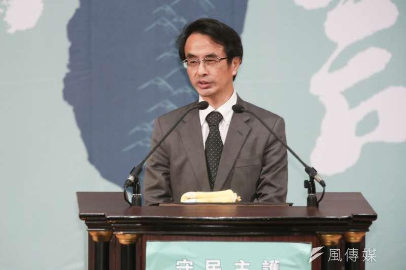 20191110-交大教授吳宗信10日出席「守民主、護台灣」台灣大聯盟成立大會。(簡必丞攝)