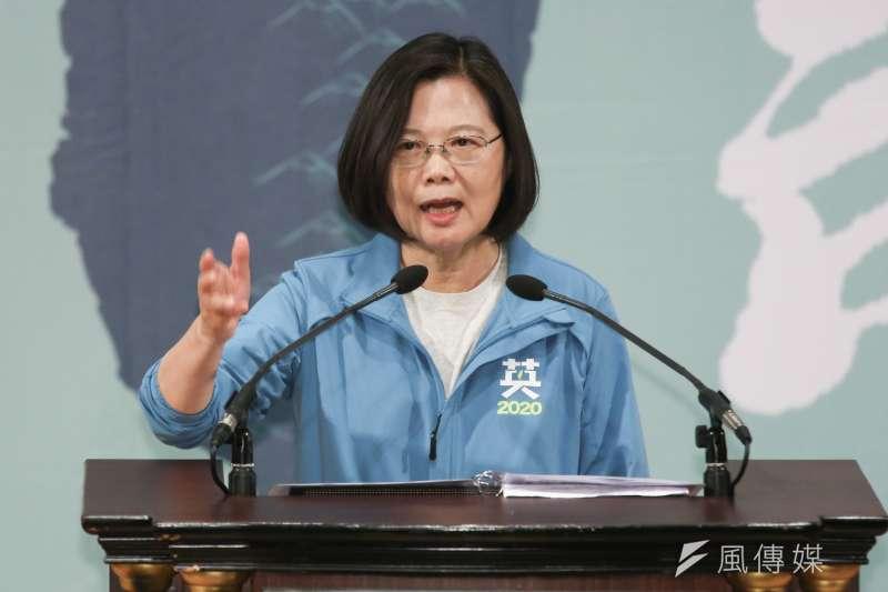 總統蔡英文指出,支持香港人追求民主,已經是台灣的共識。(資料照,簡必丞攝)