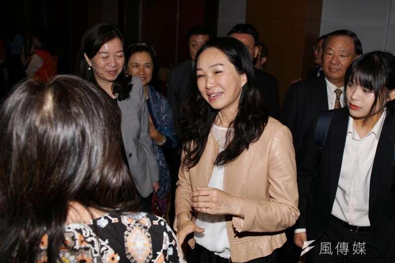 20191110-韓國瑜夫人李佳芬10日出席張老師50周年慶。(盧逸峰攝)