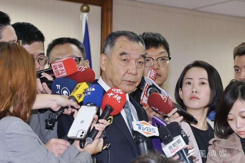 20191111-國安局長邱國正於11日出席外交國防委員會。(盧逸峰攝)