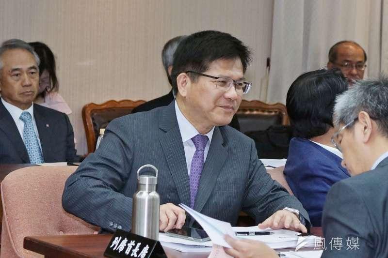 交通部長林佳龍於11日出席立法院交通委員會。(盧逸峰攝)