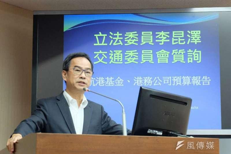 李昆澤在立院交通委員會質詢。(圖/翻攝立院直播)