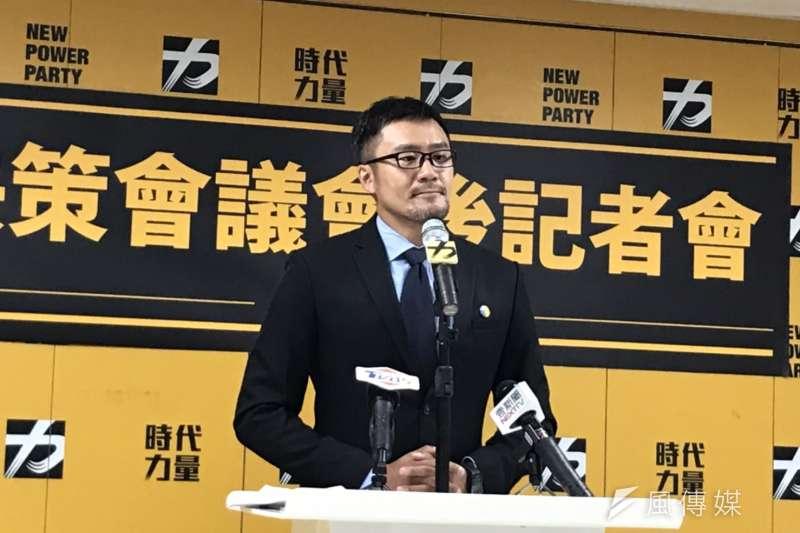 20191112-時代力量發言人陳志明12日出席決策會議會後記者會。(黃信維攝)