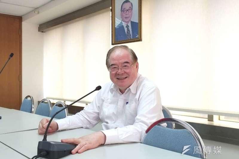 新北市黨部主委李乾龍對2020總統及立委選舉結果深具信心。  (圖/李梅瑛攝)
