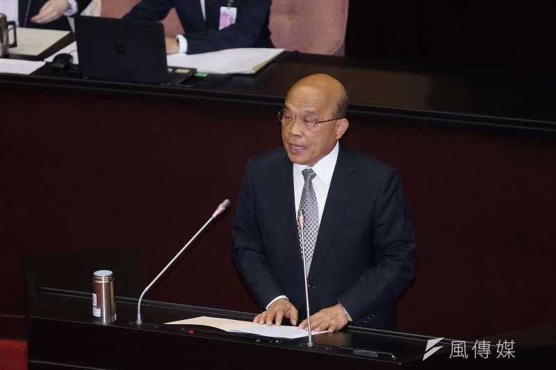 20191112-行政院長蘇貞昌12日出席立法院院會。(盧逸峰攝)