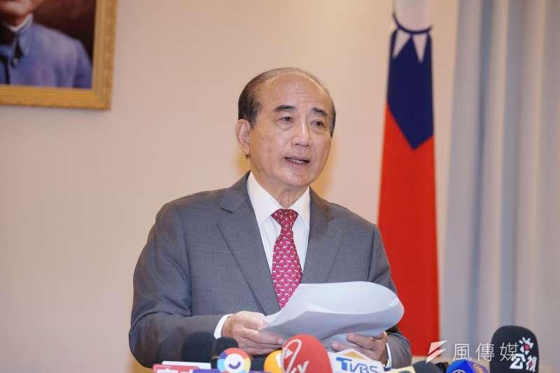 前立法院長王金平12日宣布,將退出2020總統大選。(盧逸峰攝)