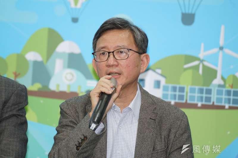 20191113-國政顧問團召集人王明炬13日出席能源轉型聯合記者會。(盧逸峰攝)