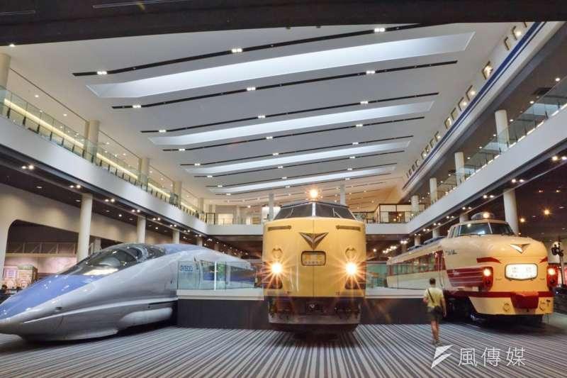20160802-國家鐵道博物館籌備處主任洪致文專訪配圖,圖為京都鐵道博物館內一景。(盧逸峰攝)