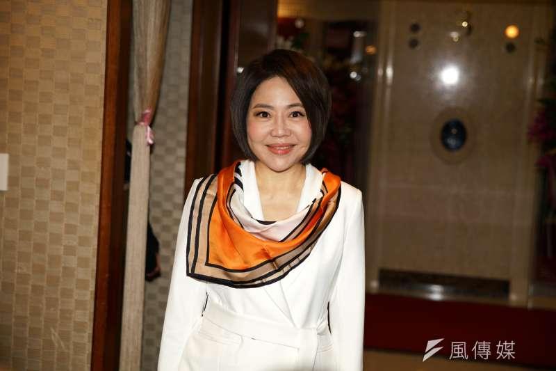 知名主持人于美人(見圖)正式接任親民黨發言人一職,她13日也在臉書說明自己扛下此職的2大關鍵原因。(盧逸峰攝)