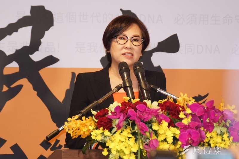 20191113-親民黨13日召開記者會,宣布廣告教母余湘擔任副總統參選人。(盧逸峰攝)