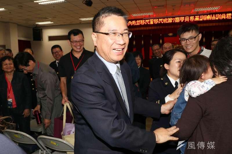 移民署「移民班第7期」今(15)天上午舉行結訓典禮,內政部長徐國勇親自出席主持。(蘇仲泓攝)