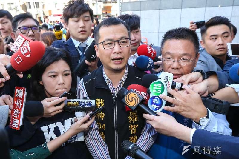 台北市議員羅智強宣布將參選2020台北巿長。(顏麟宇攝)