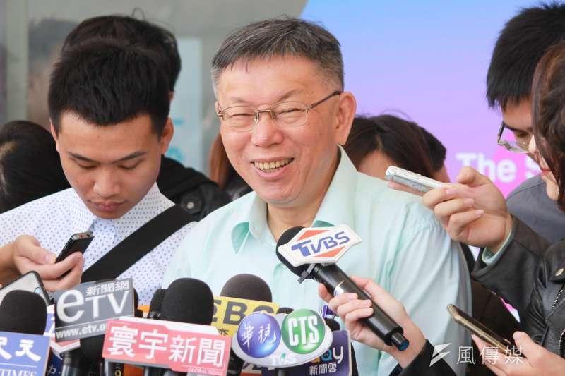 台北市長柯文哲日前到台中一中演講接受提問時,再度批評前瞻計畫有嚴重的財政紀律問題。(資料照片,方炳超攝)