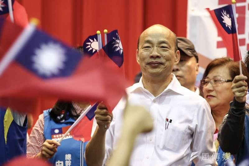 針對不分區立委名單,國民黨總統參選人韓國瑜16日受訪時直言,這個名單跟一般民眾期待有落差。(陳品佑攝)
