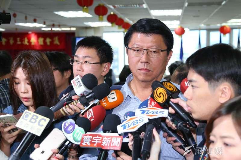 國民黨不分區立委參選人謝龍介16日出席第20屆中央委員第三次全體會議。(顏麟宇攝)