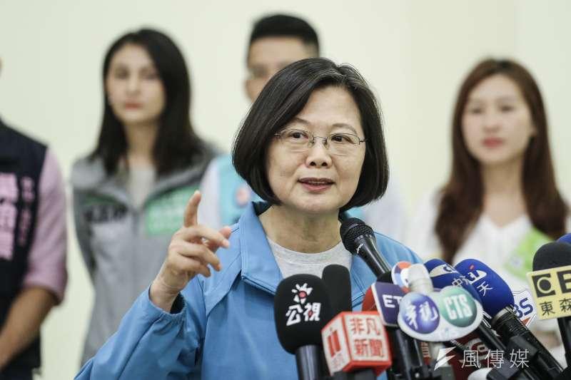 總統蔡英文拒絕韓國瑜的邀請,理性辯論統獨的國家定位,正暴露了她的心虛。(資料照,陳品佑攝)