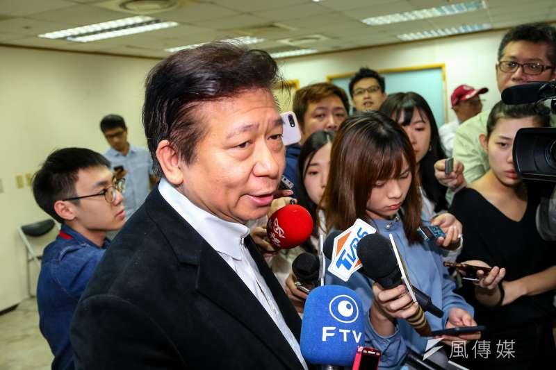 20191116-國民黨不分區立委被提名人張顯耀16日出席第20屆中央委員第三次全體會議,但最終未被提名。(顏麟宇攝)