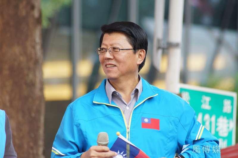 國民黨高雄市長參選人李眉蓁找來台南市議員謝龍介(見圖)擔任發言人團召集人,引發關注。(資料照,盧逸峰攝)