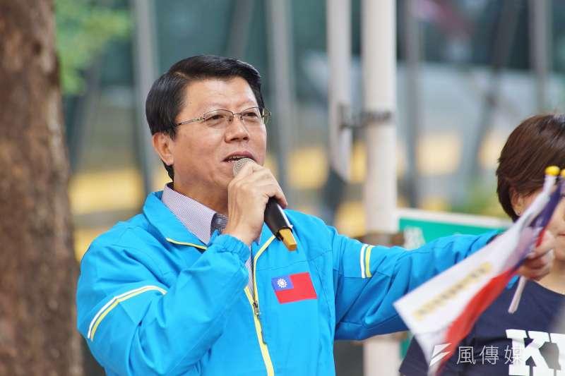 台南市議員謝龍介(見圖)表示,民進黨一邊想要特赦前總統陳水扁、一邊要罷免高雄市長韓國瑜,顯示心中標準不一。(資料照,盧逸峰攝)