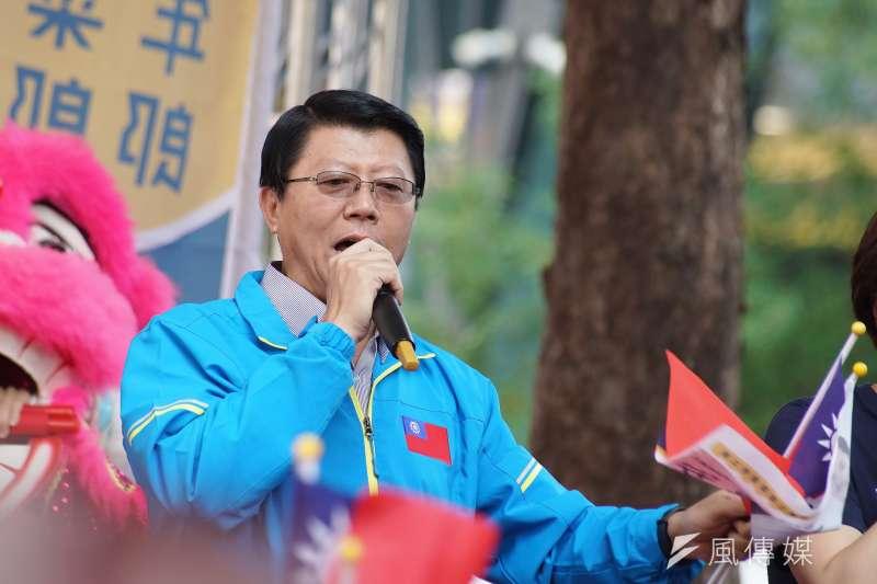 國民黨台南市黨部主委、位列不分區立委名單第15名的謝龍介(見圖)痛批,若總統蔡英文未將「共諜案」一事說明清楚,就要退選負責。(資料照,盧逸峰攝)