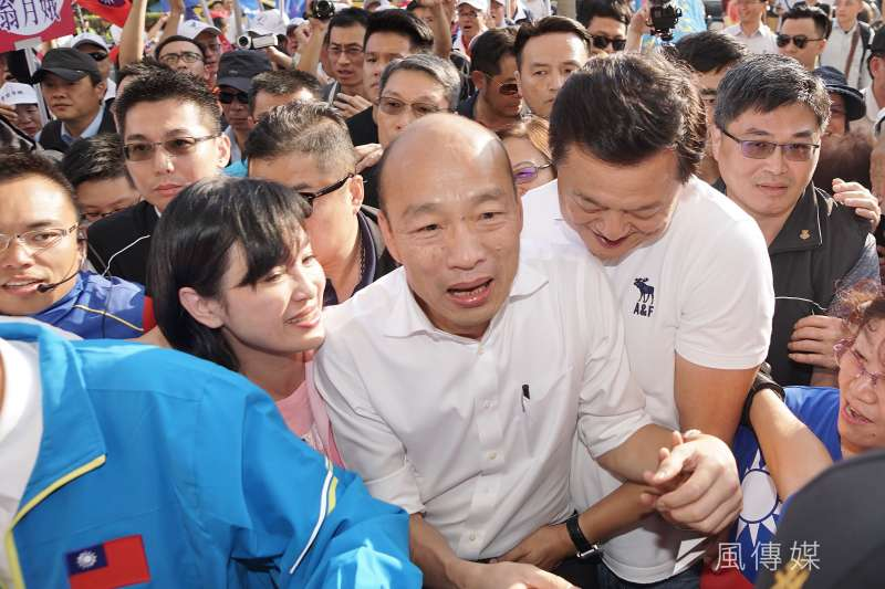 國民黨總統候選人韓國瑜說,「大家喊凍蒜時,我內心壓力很巨大。」(資料照,盧逸峰攝)