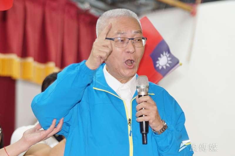 國民黨主席吳敦義17日出席婦女後援會成立大會。(盧逸峰攝)