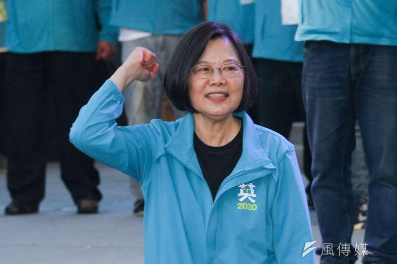 總統蔡英文批中國介入台灣選舉。(資料照片,蔡親傑攝)